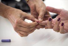 Photo d'une prise de sang lié au diabète.